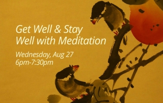Get Well and Stay Well with Meditation